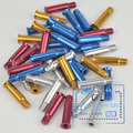 Inline Speed Skate Screw Nail Axle with Aluminium Alloy 34mm Golden Blue Red Siver Light Strengthen Nails for Inline Skates