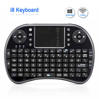 Original I8 Rechargeable Wireless Keyboard Mini 2 4G English Russian Version Air Mouse Touchpad Handheld For