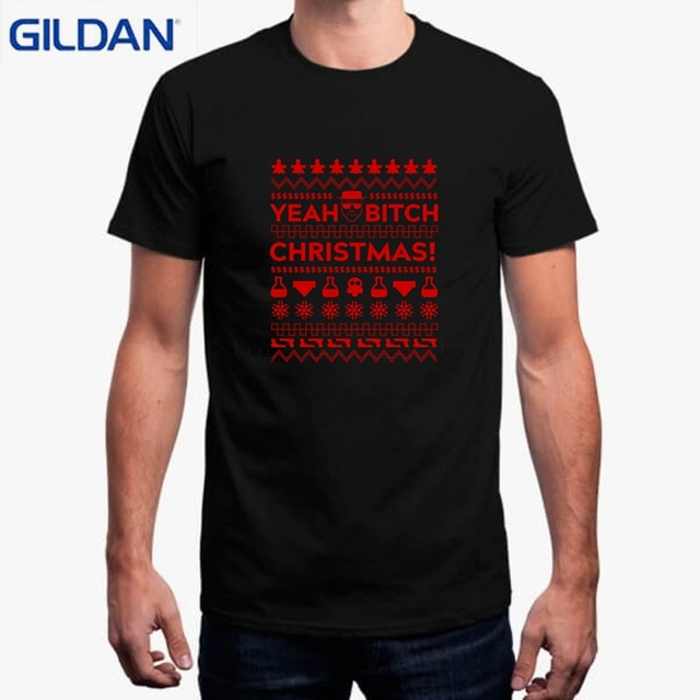 048bb7f10ebd2 Men's T Shirt Como Estampar Camisetas Yeah Bitch Christmas T-Shirt Designs  Fabrication De Tee Shirt Tshirt For Men Casual