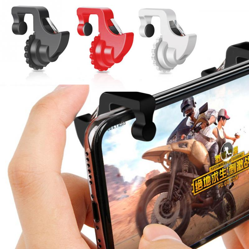 1Pair Gaming Trigger For PUBG/Rules of Survival/Knives Out Smart Phone Games <font><b>Shooter</b></font> Game Controller Fire Button Handle image