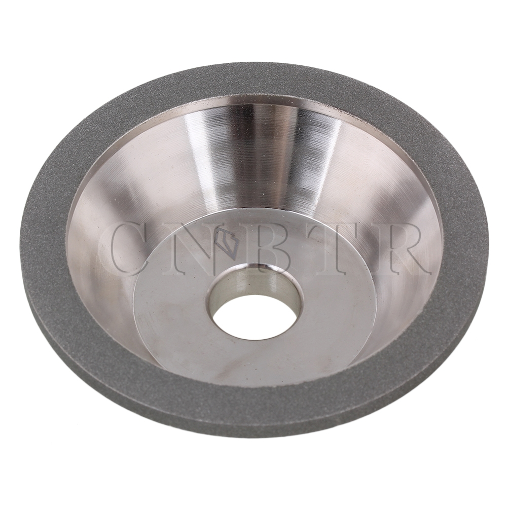 CNBTR Silver Snagging Cutting Electroplate Diamond Bowl Shape Grinding Wheel Grit #80  цены