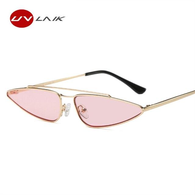 UVLAIK Vintage Cat Eye Sunglasses Women Brand Designer Small Frame ...