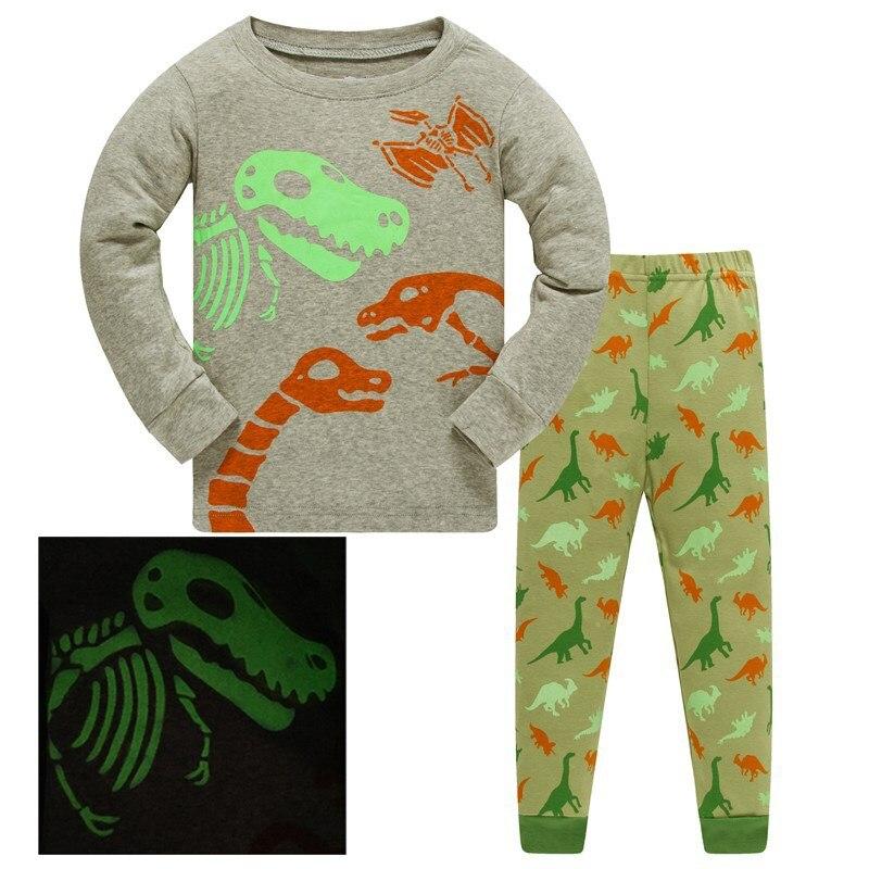 Children   Pajama     sets   Animla kids Pyjamas Boys Long Sleeve Pijamas For enfant child Cotton Clothes