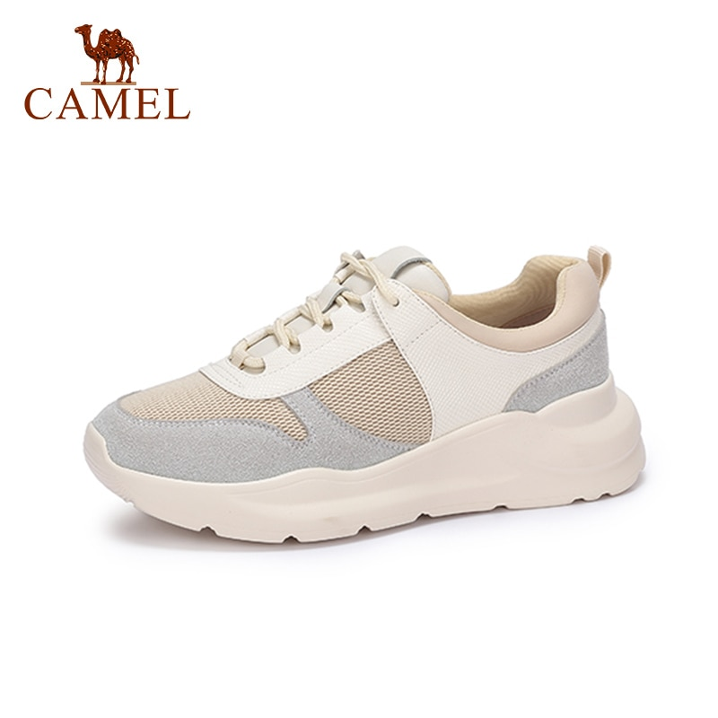CAMEL Women Spring New Platform Shoes For Ladies Comfort Fashion Retro Single Casual Shoes Women Ins Trend Lace Student Shoes