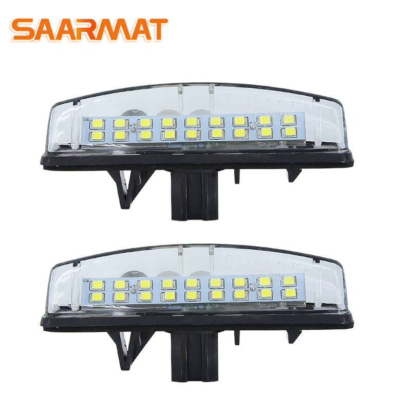 LED CANBUS No Error Car License Plate Lights Base Bulb For Mitsubishi Colt Plus Grandis 2003~ AUTO Number Plate Lamps White