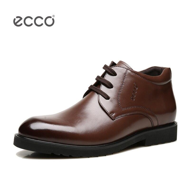 ECCO 2018 Mode Hommes Casual Chaussures de Garder Coton Chaud Hommes Cheville Bottes D'hiver En Plein Air Chaussures de Coupe-Vent Imperméable Hommes bottes