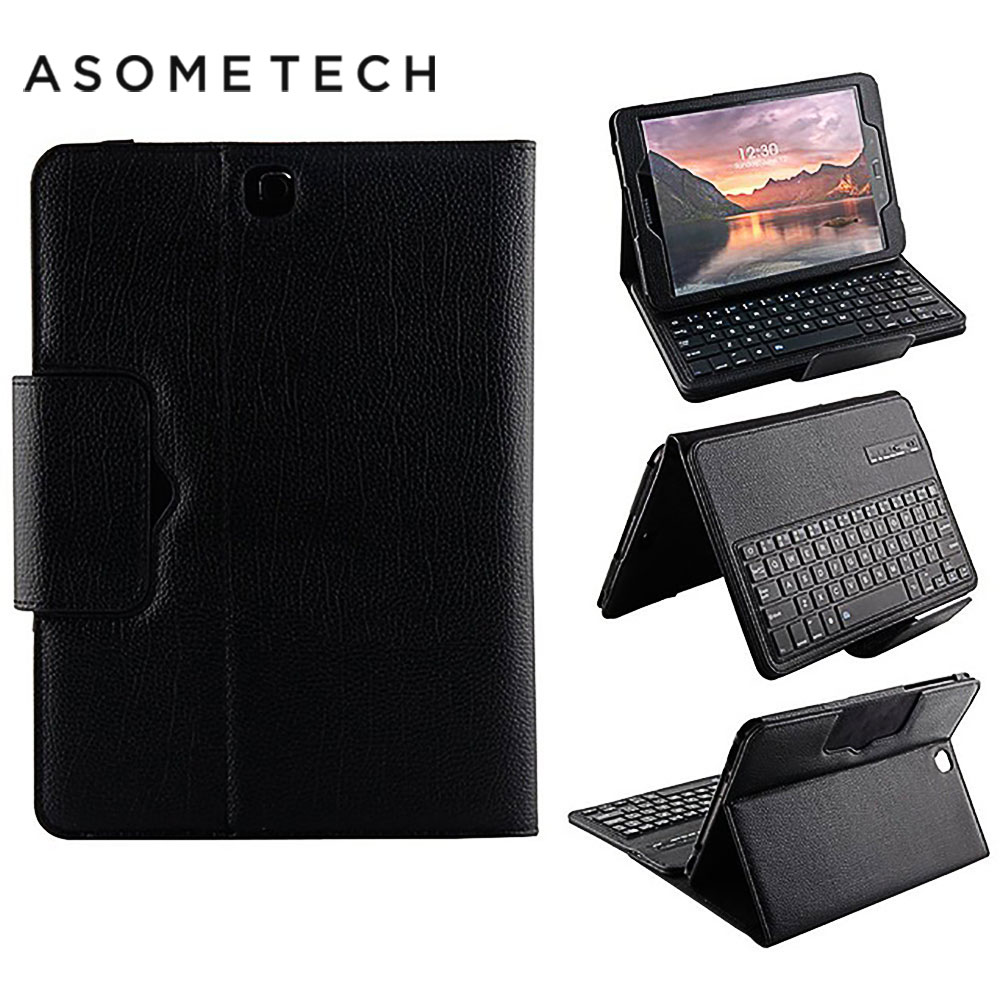 Detachable Wireless Bluetooth Keyboard case For Samsung Galaxy Tab S3 9.7 T820 T825 cover for samsung Stand Flip keyboard Cases bluetooth v3 0 59 key keyboard with detachable case for samsung galaxy tab 4 8 0 black