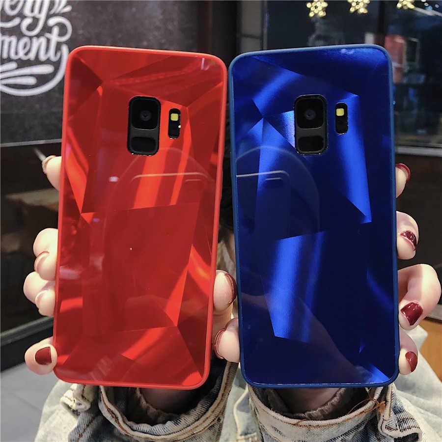 2019 mais novo 3d bling telefone capa para samsung galaxy a7 2018 a9 a6 a8 plus j3 j5 j7 2017 nota 9 caso capa de mármore dura volta casos