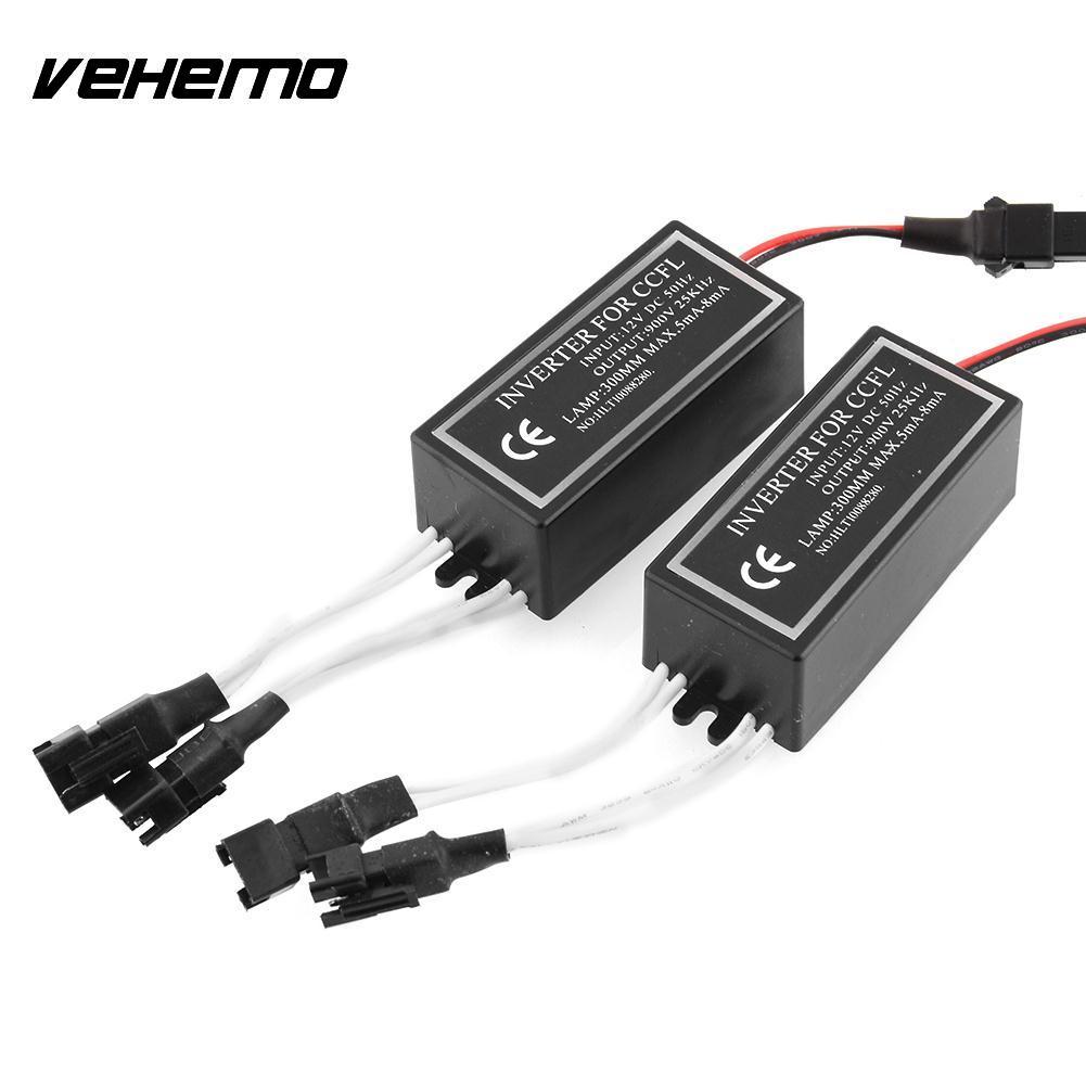 Vehemo 2X Hoge kwaliteit 4-uitgangen Spare Inverter Ballast Voor CCFL Angel Eyes Halo Vervanging 12 V Omvormers