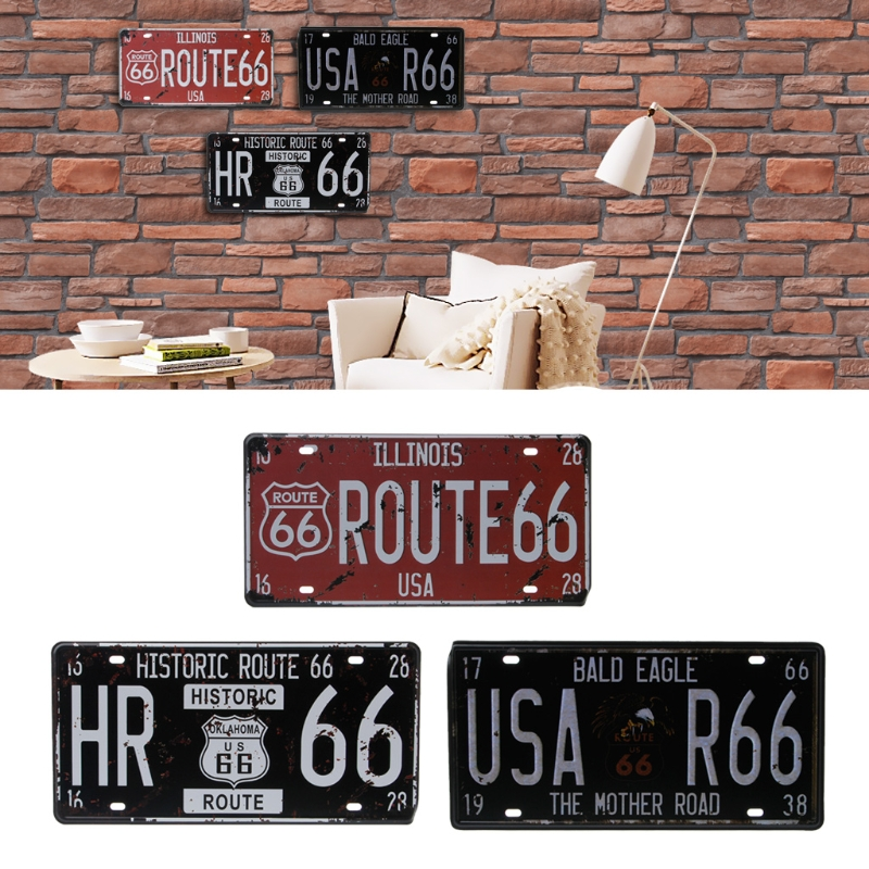 Route 66 Car Vintage Bolts for License Plate 1