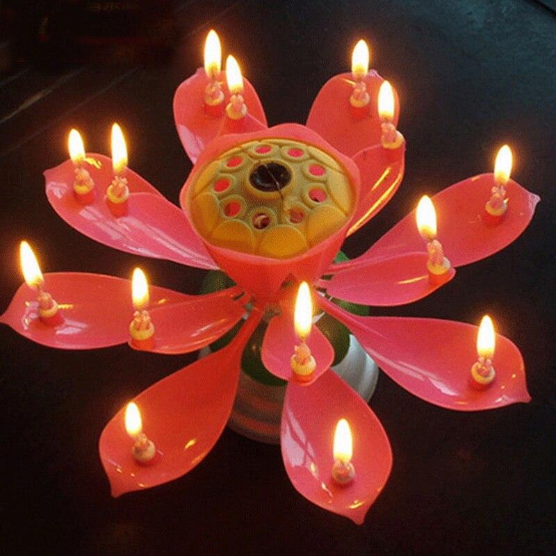 Brieftaschen Und Halter Kerzen Urijk Kurze Romantische Musical Kerze Lotus Blume Party Geschenk Kunst Glücklich Geburtstag Kerze Lichter Party Diy Kuchen Dekoration Für Kinder Attraktives Aussehen