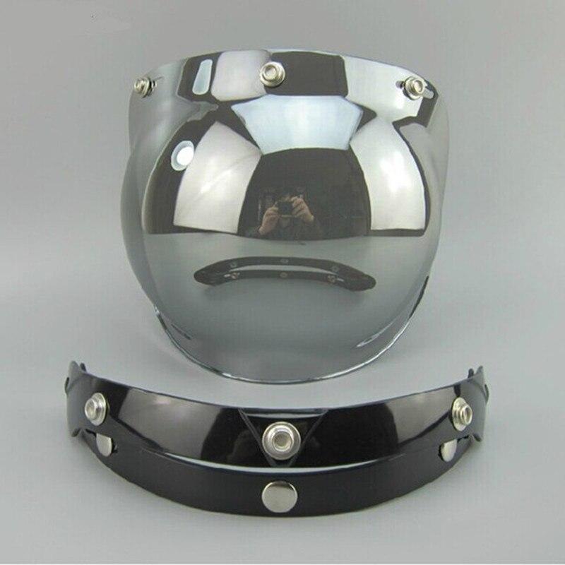 Heißer verkauf Vintage motorrad helm visier objektiv 3 taste helm blase schild visier pc anti-uv visier objektiv fit für torc/beon helm