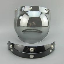 Горячая продажа Старинных мотоциклов шлем козырек объектив 3 кнопки шлем пузырь щит козырек ПК Анти-Уф козырек объектив подходит для TORC/BEON шлем