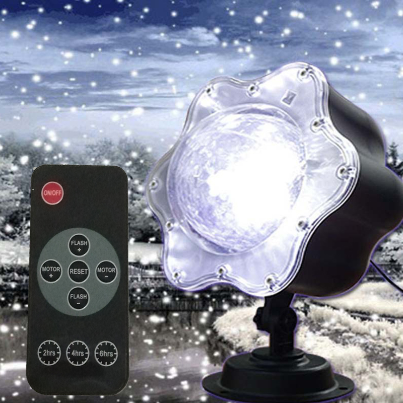 Snowfall Led Christmas Lights Outdoor Projector Light Waterproof Snowflake Projection Lamp For Holiday Garden Xmas Wedding PartySnowfall Led Christmas Lights Outdoor Projector Light Waterproof Snowflake Projection Lamp For Holiday Garden Xmas Wedding Party
