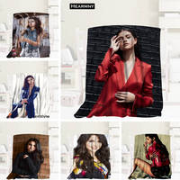 New Arrival Selena Gomez Blankets 3D Printing Soft Blanket Throw On Home/Sofa/Bedding Portable Adult Travel Cover Blanket