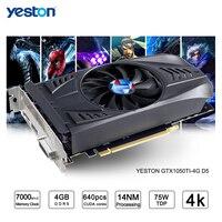 Yeston GeForce GTX 1050Ti GPU ГБ GDDR5 128 бит игровой настольный компьютер PC Видео видеокарты Поддержка Ti