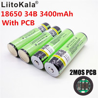 8PCS New Protected Original Rechargeable battery 18650 NCR18650B 3400mah with PCB 3.7V battery