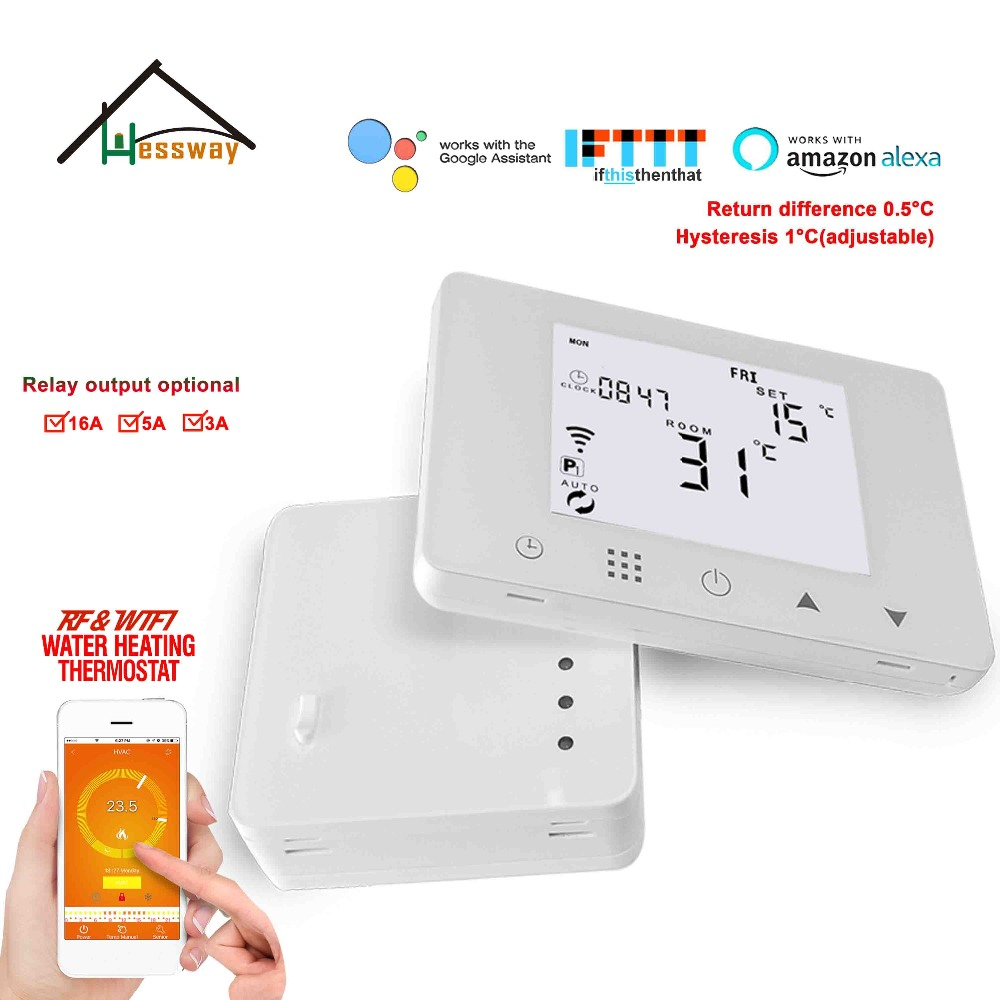 200 240VAC warm floor heating weekly programmable thermostat wifi RF wireless for wireless Radio frequency