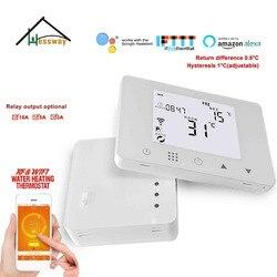 200-240VAC warme vloer verwarming wekelijkse programmeerbare thermostaat wifi & RF wireless voor draadloze Radio frequentie