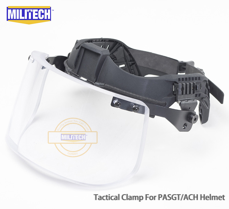 MILITECH NIJ IIIA 3A Tactical Bulletproof Visor For Helmet Ballistic Visor Bullet Proof Mask For ACH PASGT Ballistic Helmet