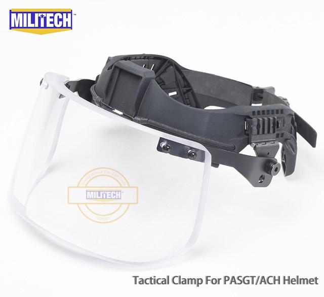 MILITECH NIJ IIIA 3A Tactical Bulletproof Visor for Helmet Ballistic Visor Bullet Proof Mask for ACH PASGT Ballistic Helmet