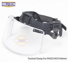 Militech nij iiia 3a 헬멧 탄도 바이저 용 전술 방탄 바이저 ach pasgt 탄도 헬멧 용 방탄 마스크