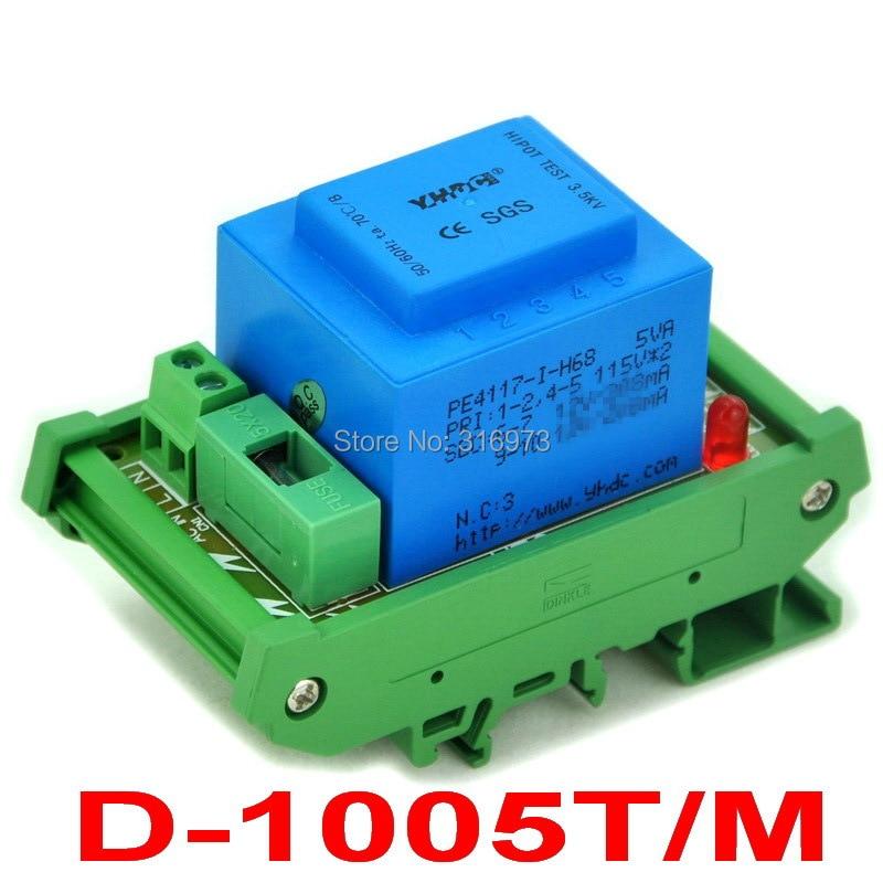P 230VAC, S 24VAC, 5VA DIN Rail Mount Power Transformer Module, D-1005T/M, AC24VP 230VAC, S 24VAC, 5VA DIN Rail Mount Power Transformer Module, D-1005T/M, AC24V