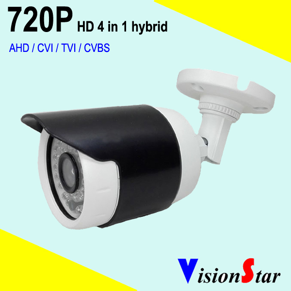 Small bullet camera cmos OV9732 HD 720P hybrid 4 in 1 OSD menu home security cctv system bullet camera tube camera headset holder with varied size in diameter