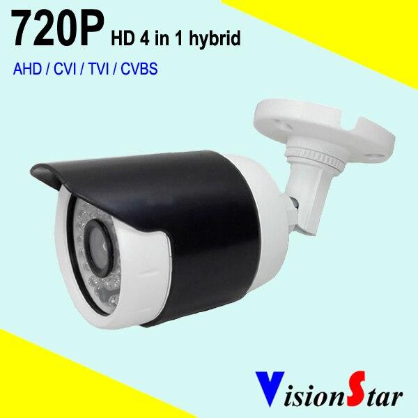 Small bullet camera cmos OV9732 HD 720P hybrid 4 in 1 OSD menu home security cctv system экшен камера bullet hd