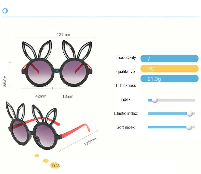 MINIMUM Cute rabbit shape Flexible Kids Sunglasses UV400 Eyewear Shades Infant Polarized Child Baby children Safety Sunglasses 2