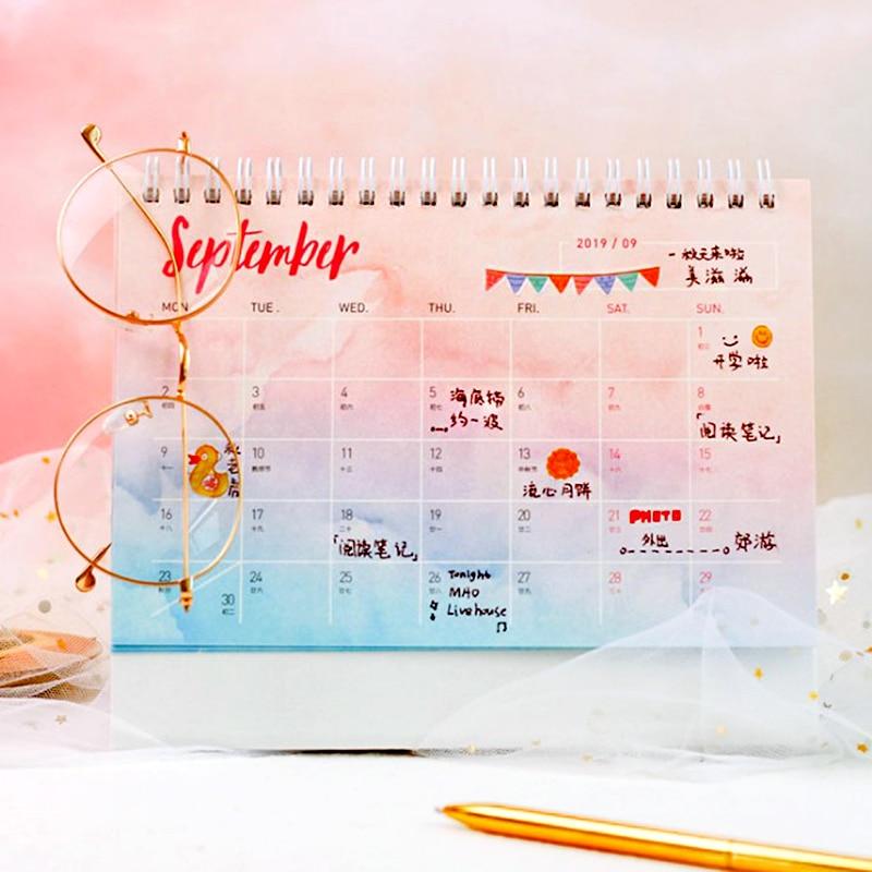Calendario Diario.2019 Anos Sueno Cielo Estrellado Serie Diy Calendario Calendarios De Mesa Calendario Diario Planificador 2018 11 2019 12