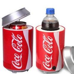 Mini usb fridge cooler Aquecedor geladeira fria Dupla utilização casa dormitório DC 5 V 12 V carro frigorífico computador do escritório refrigerador de vinho