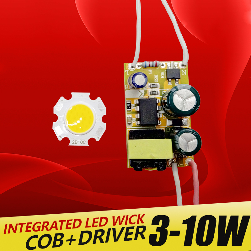 3W 5W 7W 10W COB LED +driver power supply built-in constant current Lighting 85-265V Output 300mA Transformer DIY