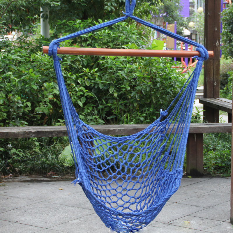 T Balcony Mesh Hammock Dorm Hanging Chair Kids Rock Swing Red Blue Camping Hammock Single-person Outdoor Furniture Hammocks