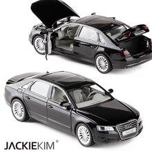 Modelo de carro de liga de audi a8 1:32, veículos de brinquedo de metal com puxar para trás, piscando, musical para crianças, brinquedos gratuitos envio do frete