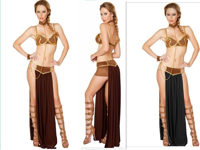 Plus Size Sex Lingerie Star Wars Cosplay Princess Leia Slave Costume Harem  Slave Exotic Sexy Costumes 2916b423d