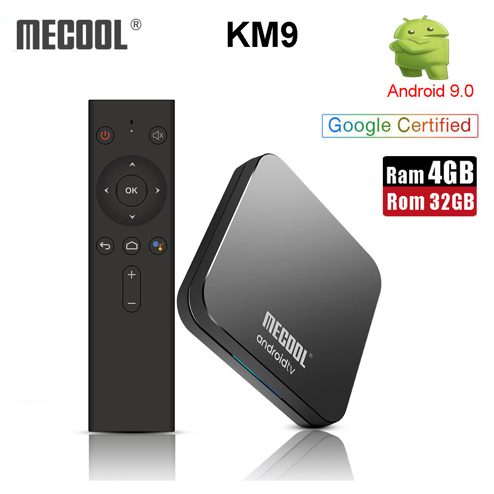 MECOOL KM9 Google Certified Android 9 0 TV Box S905X2 4GB DDR4 32GB ROM Voice control