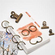 10 шт, 25 мм, металл с отрывными листами книги связующее навесной кольца металлический книжный кольцо для скрап-альбом, ежедневник канцелярских принадлежностей школьные канцелярские принадлежности