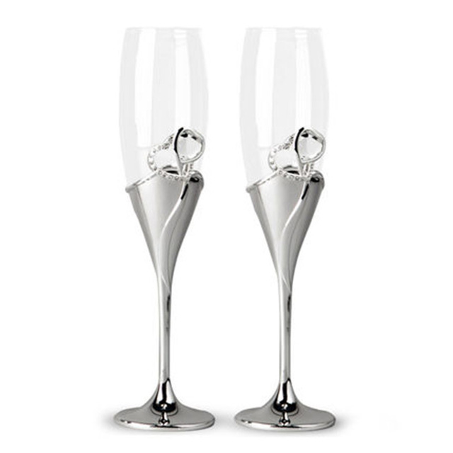 Gfhgsd Champagne Gl Unique Colorful Retro Crystal Rhinestones Design Wine Gles Flutes For Wedding