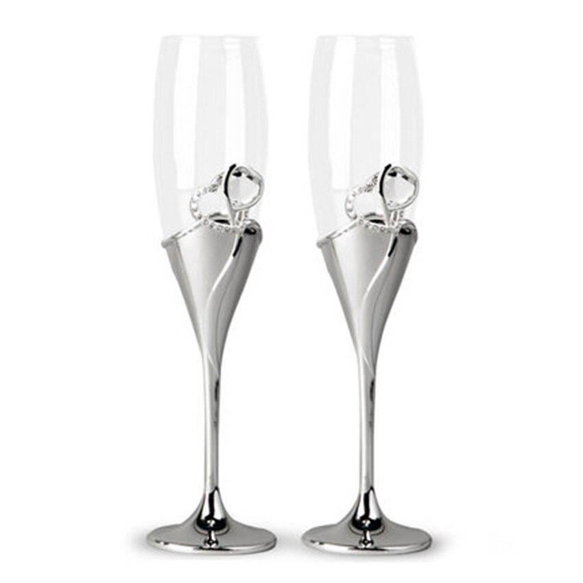 GFHGSD Champagne Verre Unique Coloré Rétro Cristal Strass Conception Verres à Vin et Champagne Flûtes Pour Set De Mariage JNK102