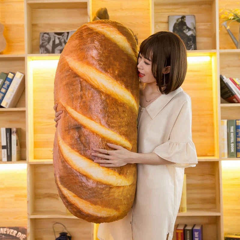 Çıkarılabilir ve Yıkanabilir Dekoratif Yastık Ekmek Tasarım Peluş Atmak Cushionfor Çocuk Odası Kız, Mevcut doldurulmuş oyuncak sandalye minderi