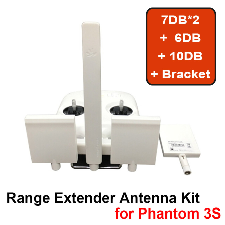 2017 Newest DIY Signal Booster Kit High Gain Remote Controller Refitting Antenna Range Extender For DJI Phantom 3 Standard / 3SE 3d printed remote control antenna balancer range booster antenna parallel keeper for dji phantom 4 3 inspire 1
