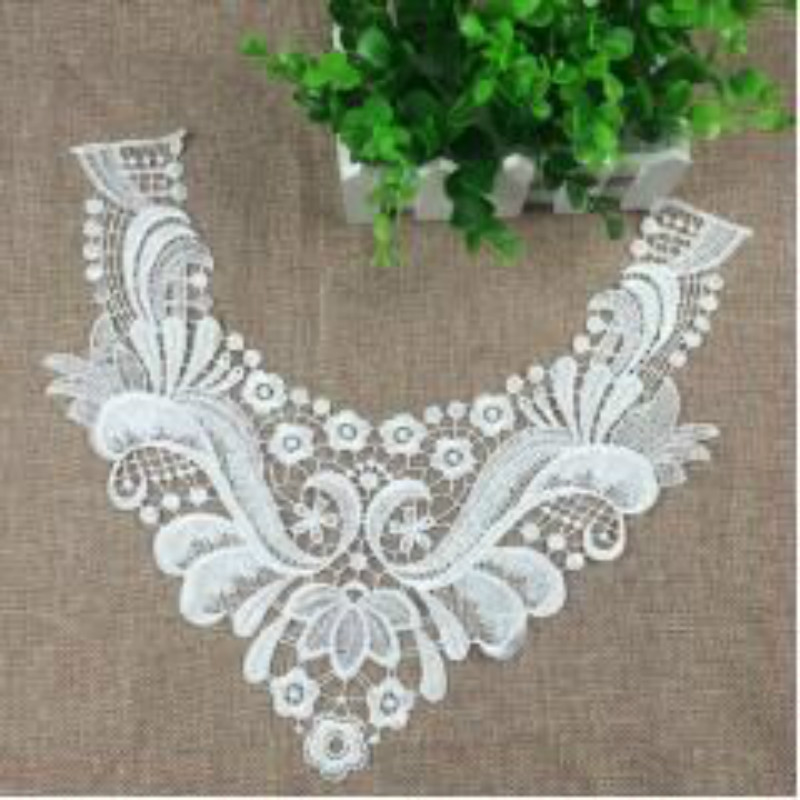 Embroidery Collar Floral Embroidered Applique Lace Neckline Collar Garment Accessories Scrapbooking(China)