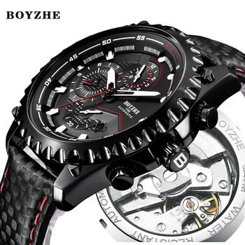 Mężczyźni nowy automatyczny zegarek mechaniczny męskie Top luksusowa marka wojskowy sport skórzany męskie wodoodporne zegarki na rękę Relogio Masculino tanie i dobre opinie Mechaniczne Zegarki Na Rękę 13mm 22mm Auto data Kompletna kalendarz Świetliste Dłonie Odporne na wodę Stoper WL-22L