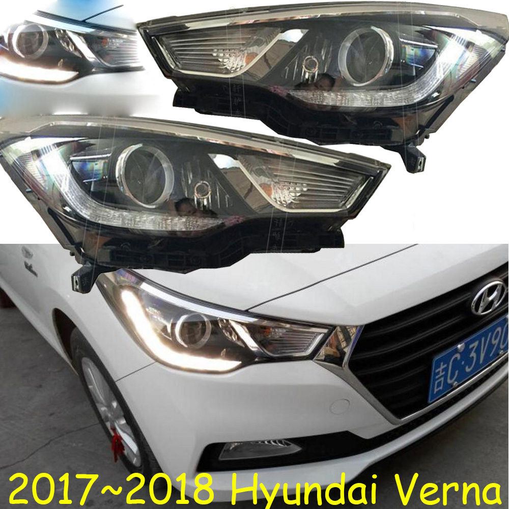 HID,2017~2018,Car Styling,verna Headlight,Solaris,accent,Elantra,Genesis,i10,i20,santa fe,tucson,veracruz,lantra;verna head lamp accent verna solaris for hyundai led tail lamp 2011 2013 year red color yz