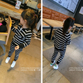 2017 New Spring Baby Girls Suit Fashion Strip Zipper Jacket With Sport Pants Casual Clothing Set