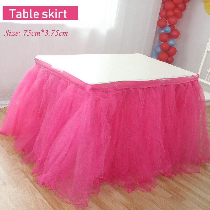 74 cm * 3.75 m partie Tulle Tutu Table jupe Tulle vaisselle pour décoration de mariage bébé douche fête mariage anniversaire Table plinthe