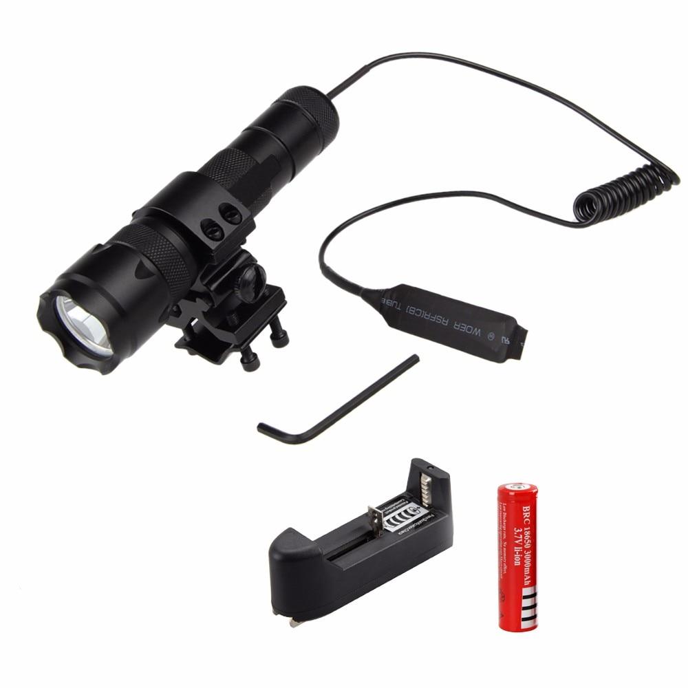 Top Quality 2500Lm XML T6 LED Tactical Flashlight Torch Light Mount Lamp Rifle Gun Rail