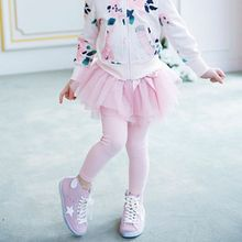 Retail EMS DHL Free Shipping toddler Little Girl's New Autumn Tutu Skirt Leggings One Piece Children's Wear 3 Colors