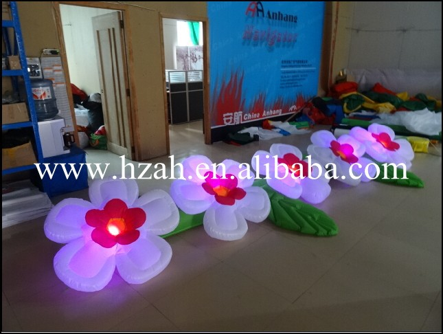Wedding Stage Decoration Led Inflatable Flower 5m 2017 new inflatable flower long wedding decoration flower